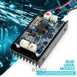 15W Laser Head Engraving Module TTL 450nm Blu-ray Wood Marking Cutting Tool BT