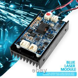 15W Laser Head Engraving Module TTL 450nm Blu-ray Wood Marking Cutting Tool ME