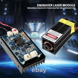 15W Laser Head Engraving Module TTL 450nm Blu-ray Wood Marking Cutting Tool New