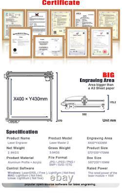 20W ORTUR 32 bit Laser Master 2 Laser Engraving Cutting Machine Printer