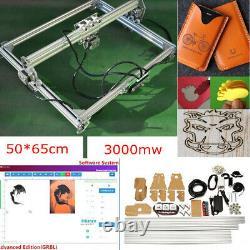 3000mW 50x65cm DIY Mini Laser Cutting Printer Engraving Engraver Machine Desktop