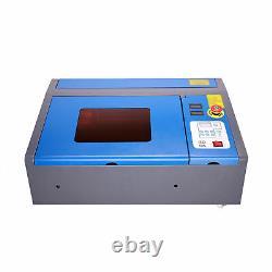 40W CO2 Laser Engraver Cutter Engraving 30x20cm Dot Pointer LCD Cutting Machine