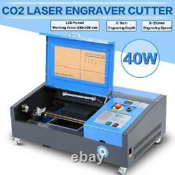 40W CO2 Laser Engraver Cutter Engraving USB Machine Cutting Carving Printer