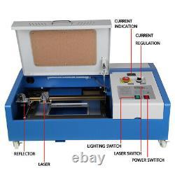 40W CO2 Laser Engraving Cutting Machine Engraver Cutter USB 300X200MM UK