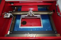 40W CO2 USB port laser engraving and cutting machine laser printer + 4RADS