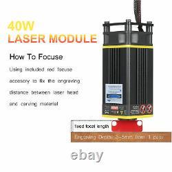40W Laser Module Kit 448-462nm Continuous Laser Cutting Engraving Module S3E5