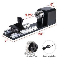50W CO2 Laser Engraver Cutter Cutting Engraving Machine 30x50cm with Rotary Axis