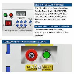 50W CO2 Laser Engraving Cutting Machine Engraver Cutter USB Port 20 X 12 220V