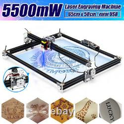5500mw 65x50cm Laser Engraving Cutting Engraver CNC Carver DIY Printer