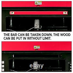 60W CO2 Laser Engraver Engraving Cutting Machine 700x500MM Cutter with Wheels USB
