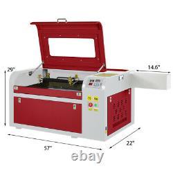 60W CO2 Laser Engraving Engraver Machine Cutter Wood Cutting 600400mm USB Port