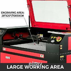 60W CO2 Laser Engraving Engraver Machine Cutter Wood Cutting 700500mm USB Port