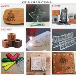 60W CO2 Laser Engraving Machine Laser Engraver Wood Cutting Mill USB 220V