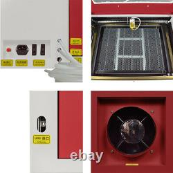 60W CO2 Laser Engraving Machine Laser Engraver Wood Cutting Mill USB 220V USB