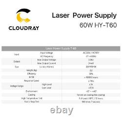 60W PSU CO2 Laser Power Supply for Laser Tube CO2 Laser Engraver Cutting