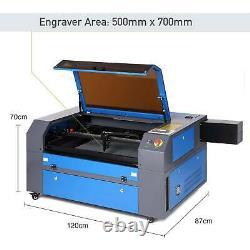 80W CO2 Laser Engraver Engraving Cutting Machine 700500mm Patent Model