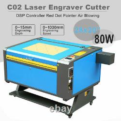 80W CO2 USB Laser Engraving Cutting Machine DSP Engraver Cutter 700x500mm
