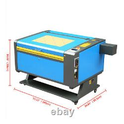 80W CO2 USB Laser Engraving Engraver 700x500mm Printer Cutting Cutter with4 Wheels
