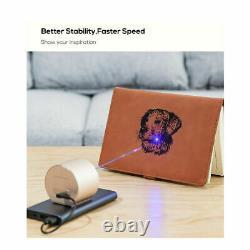 Bluetooth DIY Laser Engraving Cutting Machine Engraver Printer Desktop with Tripod