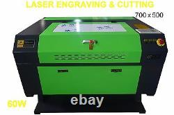 Brand New 60W USB Laser Engraving Cutting Machine 700x500mm Engraver Wood great