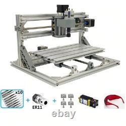 CNC 3018 Engraving Router & 7W Laser Module Carving Milling DIY Cutting Machine