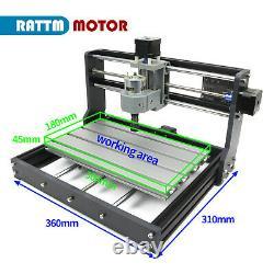 CNC 3018 PRO GRBL DIY CNC Router Engraver Laser Machine Cut Wood/PCB/PVC Milling