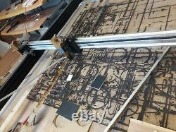 CNC Laser Engraver Cutter 95x85cm cutting area 40W inc compressor fans PC