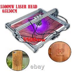 CNC Laser Engraver Cutter Metal Marking Wood Cutting Machine 5500mW 65x50 DIY