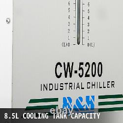 CW-5200 Industrial Water Chiller Cooler CO2 Laser Engraving Cutting Machine