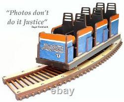 Cedar Point Blue Streak Roller Coaster Detailed Model Laser Engraved & Cut