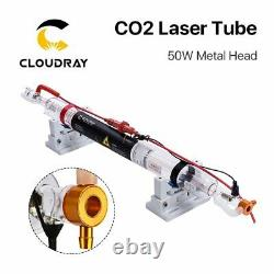 Cloudray 50W CO2 Laser Tube Metal Head 1000mm Glass Pipe for Engraving Cutting