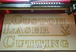 Custom Personalised Laser Cutting Service Engraving Wood Acrylic Mirror Stencil