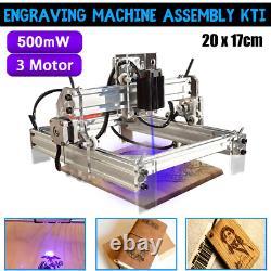 DIY Laser Engraving Cutting Machine Engraver Printer Desktop Cutter 500MW