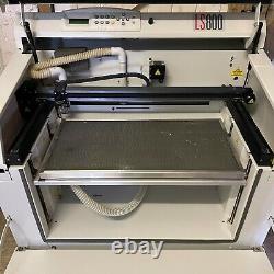 Gravograph LS800 Laser Cutting Cutter / Engraving Machine + Air Filter Base