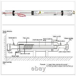 Laser Tube CO2 Laser Tube 60W 1000mm for Laser Engraving and Cutting Machine
