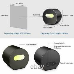 Mini Bluetooth Laser Engraving Cutting Machine Engraver Printer Desktop Tripod