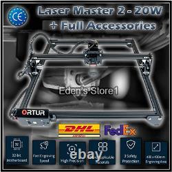 Ortur Laser Master 2-20W Engraving Cutting Machine + Accessories Large Work Area