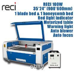 RECI 100W W2 CO2 Laser Engraving Cutting Machine Laser Cutter Engraver 900600mm