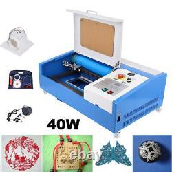 Ridgeyard 40W CO2 Laser Engraver Cutter Engraving Cutting Machine 300x200mm
