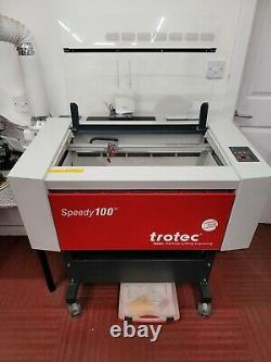 Trotec Speedy 100 Laser Engraving Machine 80watt With Rotary and Cutting Table