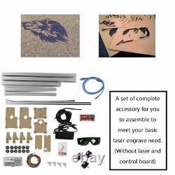 USB CNC Laser Engraving Metal Marking Tool Machine Wood Cutter 48.5x52.6cm DIY