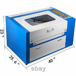 Updated 30000mm/min 50W CO2 USB Laser Engraving Cutting Machine Engraver Cutter