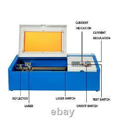 VEVOR CO2 USB 40W Laser Engraver Cutter 30x20cm Engraving Cutting Machine Wood