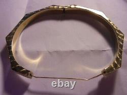 14 Ct Bracelet En Or Jaune Coupe Laser / Engravure