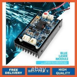 15w Blue Laser Head Engraving Module Ttl 450nm Outil De Découpe De Marquage En Bois Diy