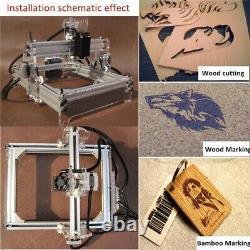 2000mw A5 17x20cm Graveur Laser Cutting Machine Desktopgraving Cnc Printer