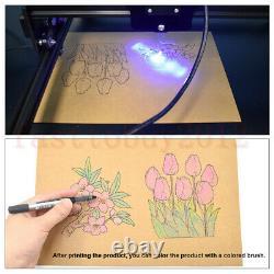 2500mw Mini Laser Cutting Gravure Machine Printer Kit Desktop 450 X 400mm Diy