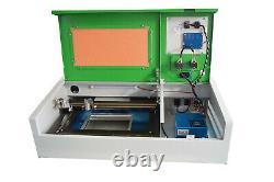 40w Co2 Graveur Laser Graveur Coupeur Machine À Découper Usb 300x200mm +4 Roues