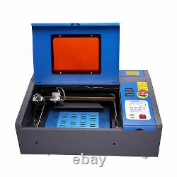 40w Co2 Graveur Laser Gravure Red Pointer Wheel LCD Cutting Carving Machine