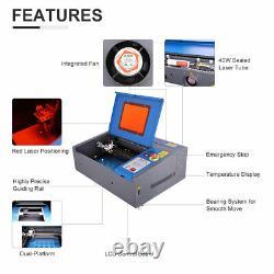 40w Co2 Laser Graveur Cutter Gravure 30x20cm Dot Pointer LCD Cutting Machine